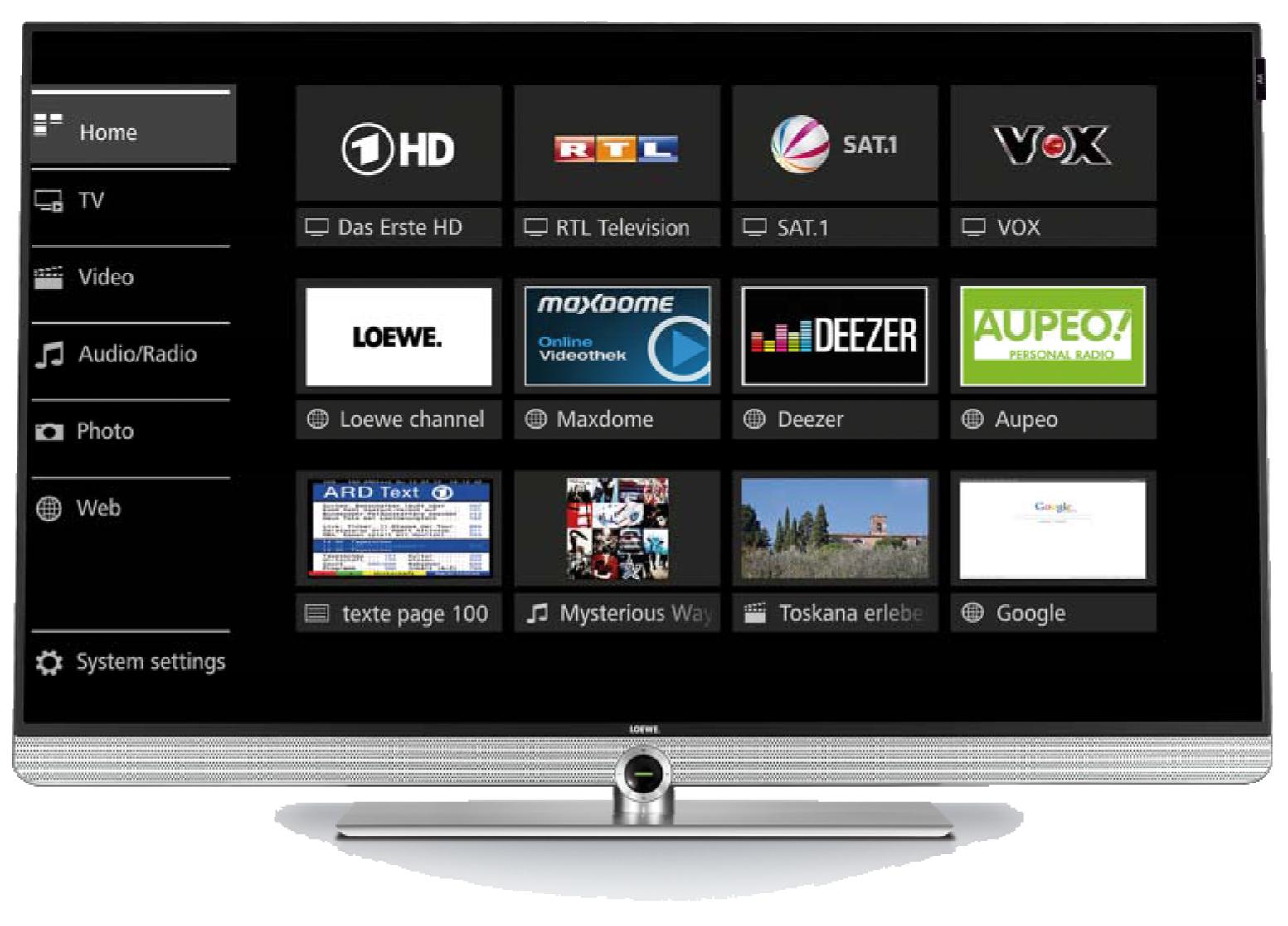 Loewe assist media - Loewe Art 40 UHD controlsound
