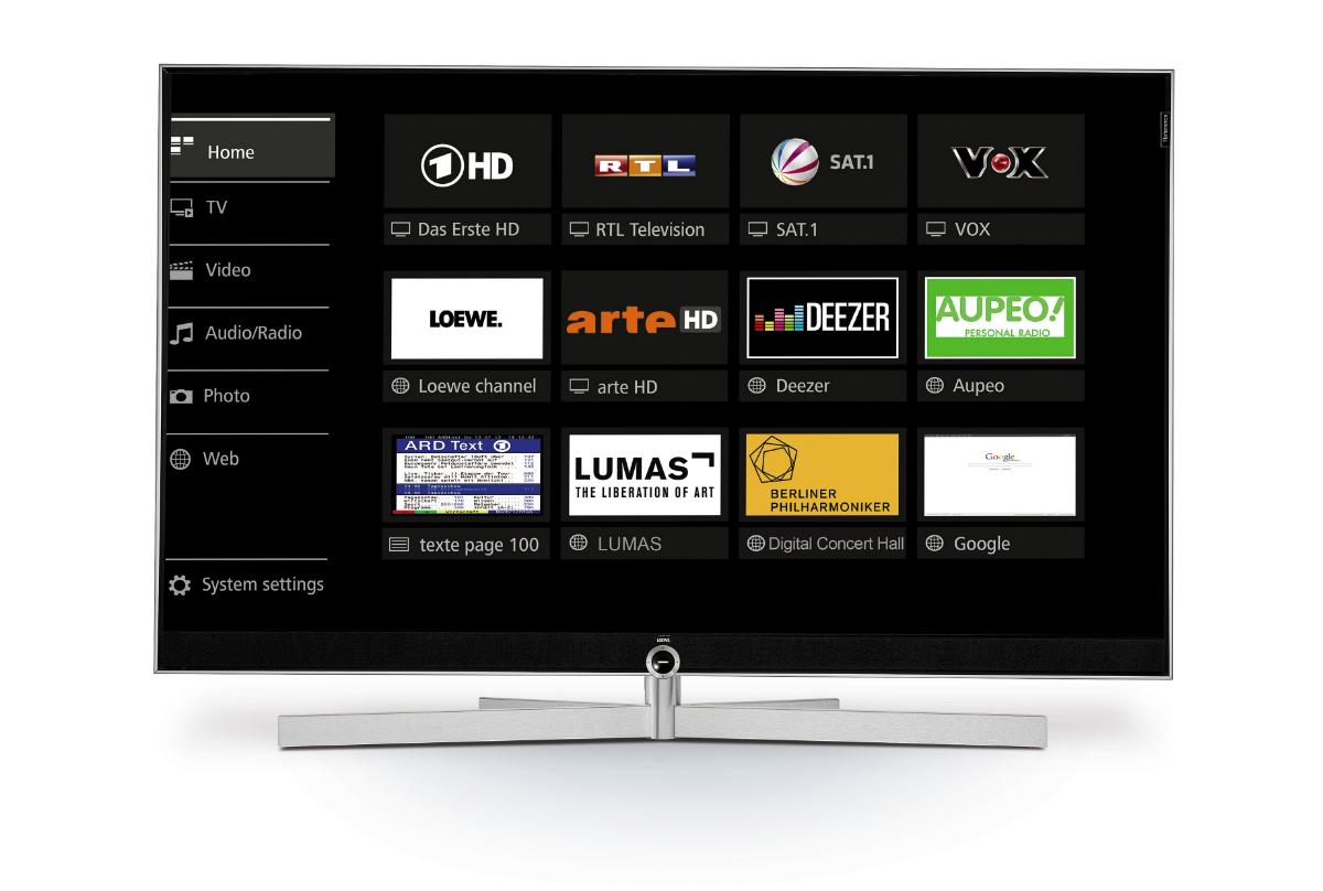 Loewe assist media - Loewe Reference 75 UHD controlsound