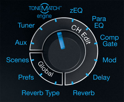 Réglages Tonematch ControlSound Division professionnelle