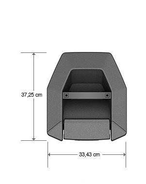 Description vue de haut Bose Enceinte F1 Modele 812 Dimension Control Sound