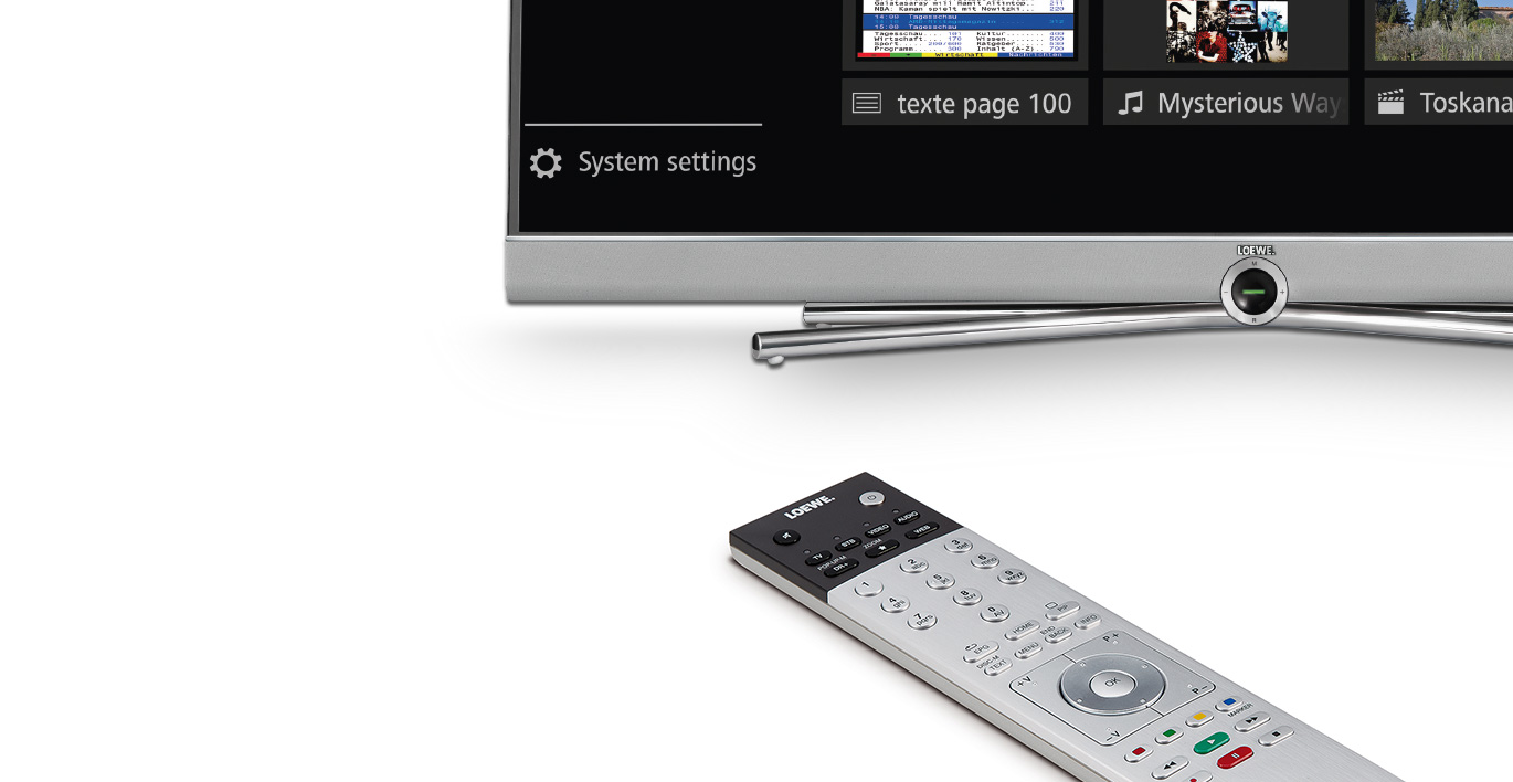 Enregistrer vos émissions favorites simplement - Loewe Connect 55 DR+ UHD controlsound
