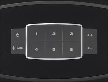 Jusqu'à 6 préreglages personnalisés du Système Audio Wi Fi Bose SoundTouch 10 Control Sound