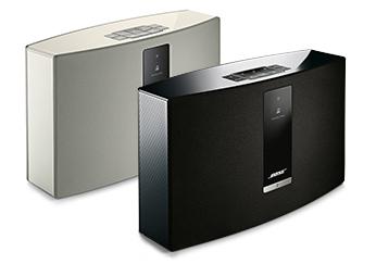 Présentation du modèle noir et blanc du Système Audio Wi-Fi Bose SoundTouch 20 série III Control Sound