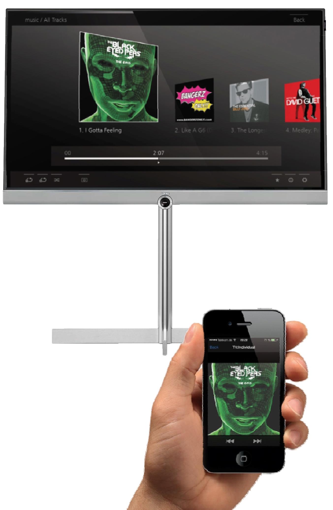 Partager facilement vos contenus multimédia Loewe Art 40 UHD controls