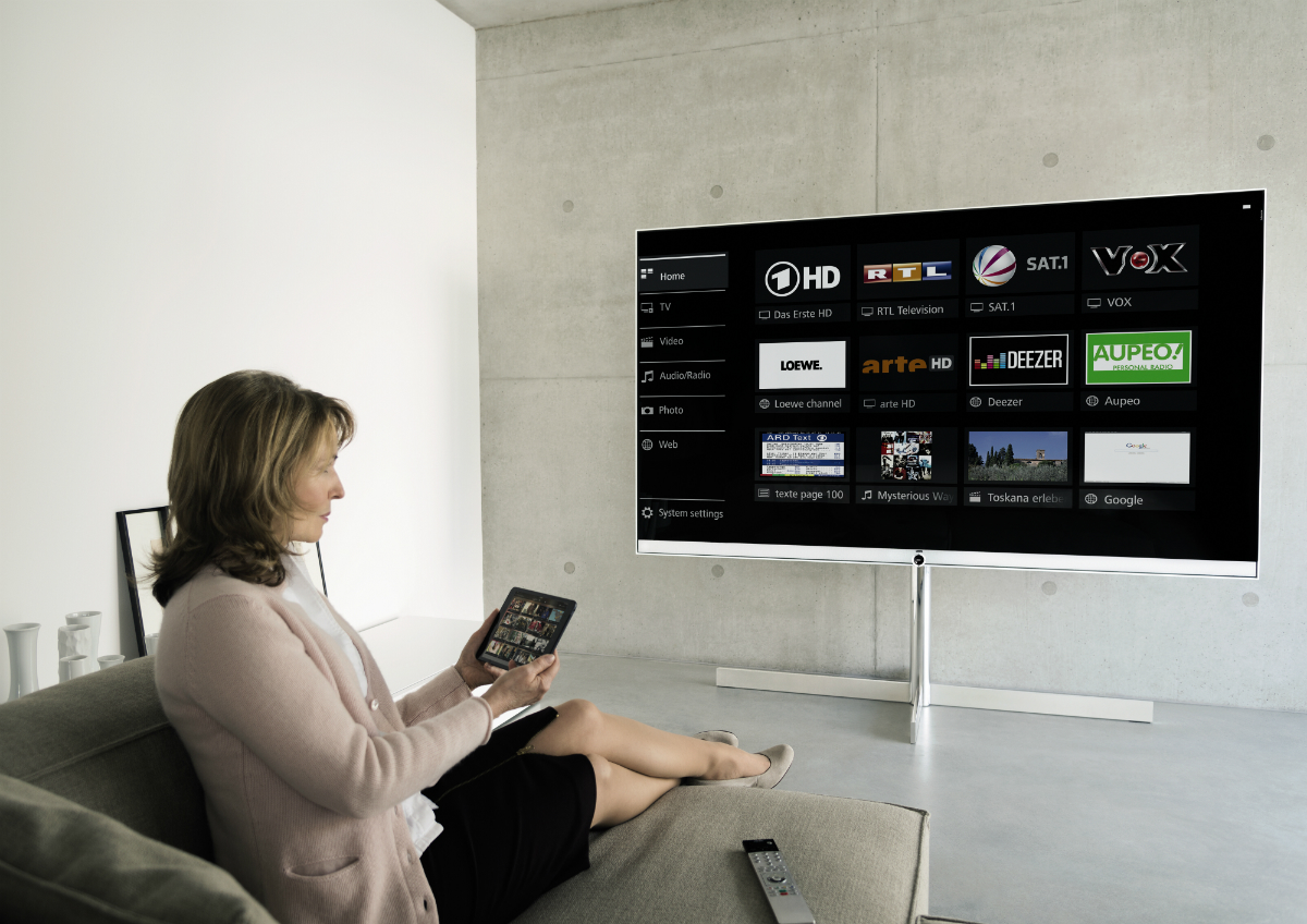 Partager facilement vos contenus multimédia Loewe Reference 55 UHD ControlSound