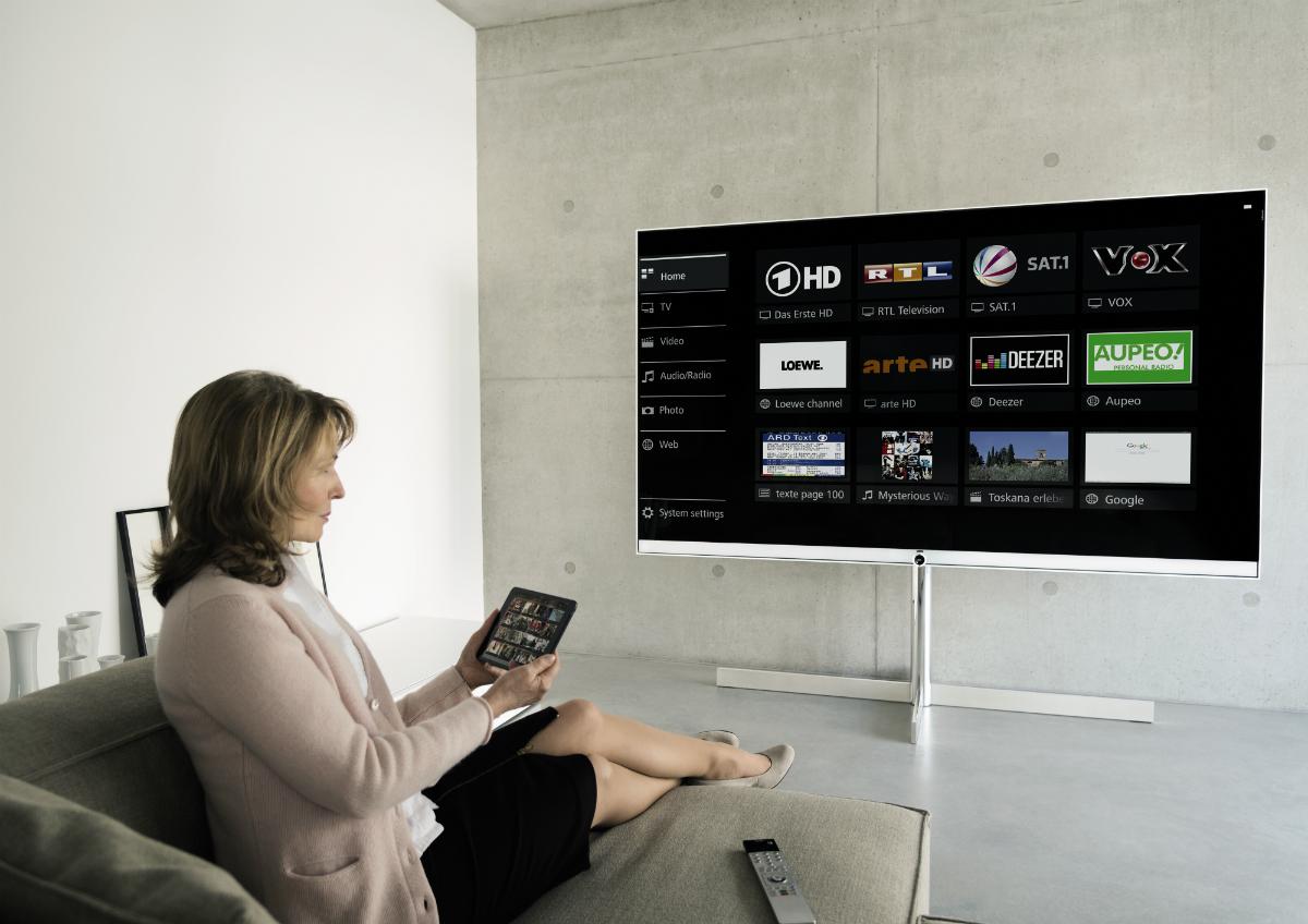 Partager facilement vos contenus multimédia Loewe Reference 85 UHD ControlSoud