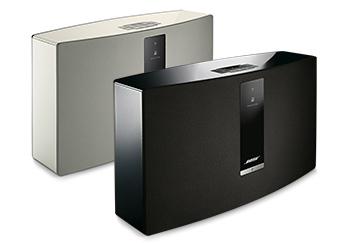 Présentation du modèle blanc et noir du Système Audio Wi-Fi Bose SoundTouch 30 série III Control Sound