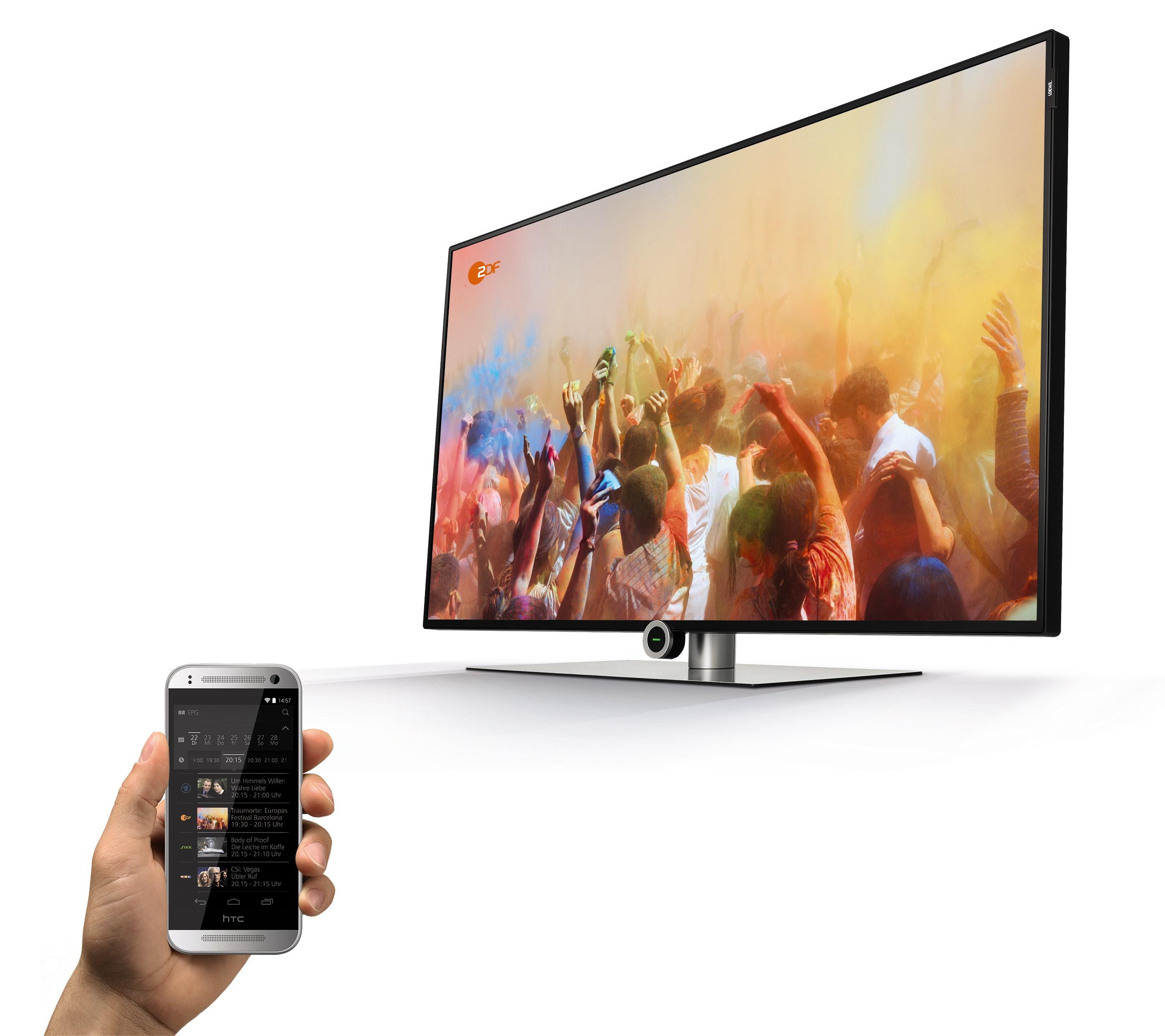 Partager facilement vos contenus multimédia Loewe one 55 UHD controlsound