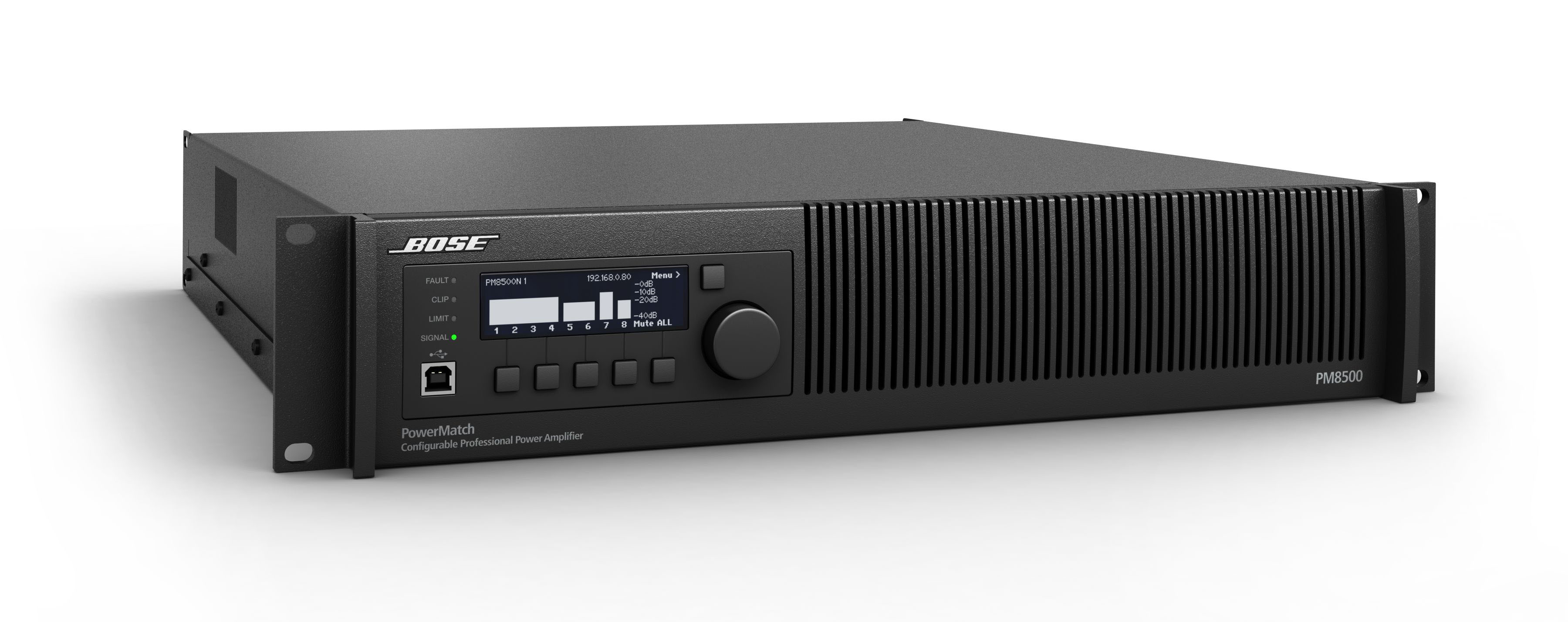 Présentation de l'amplificateur Bose PowerMatch PM8500 ControlSound Division professionnelle