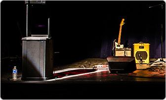 Salle de concert avec caisson de basse F1 control sound