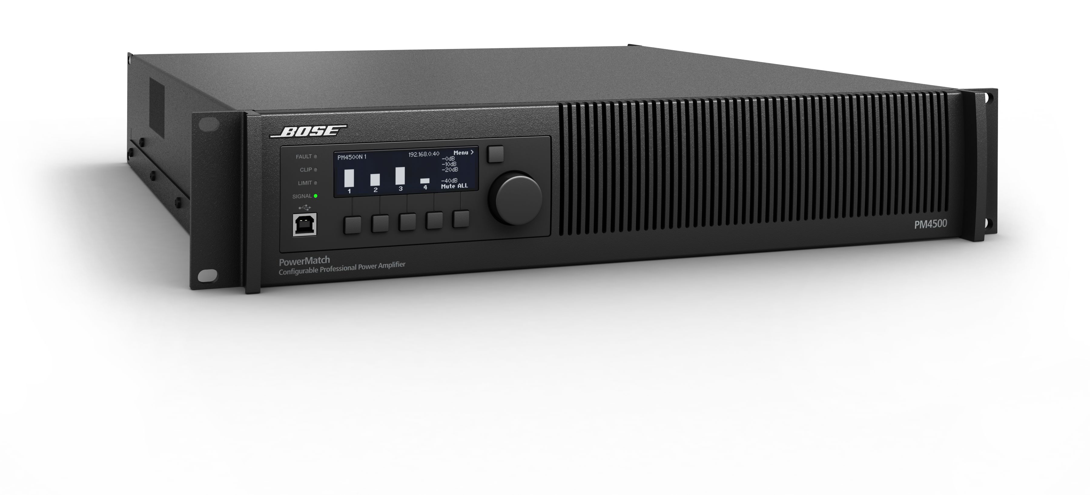 Présentation de l'amplificateur Bose PowerMatch PM4500 ControlSound Division professionnelle