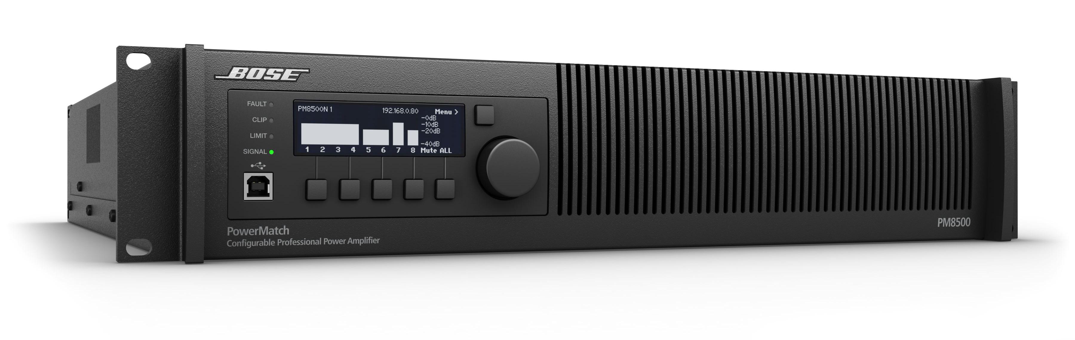 Présentation de l'amplificateur Bose PowerMatch PM8500N ControlSound Division professionnelle