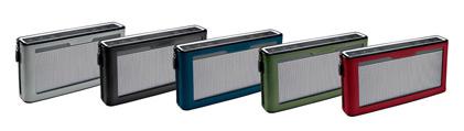 Caches vert olive, noir charbon, bleu marine, rouge intense, orange, gris pour SoundLink III distribués par Control-sound