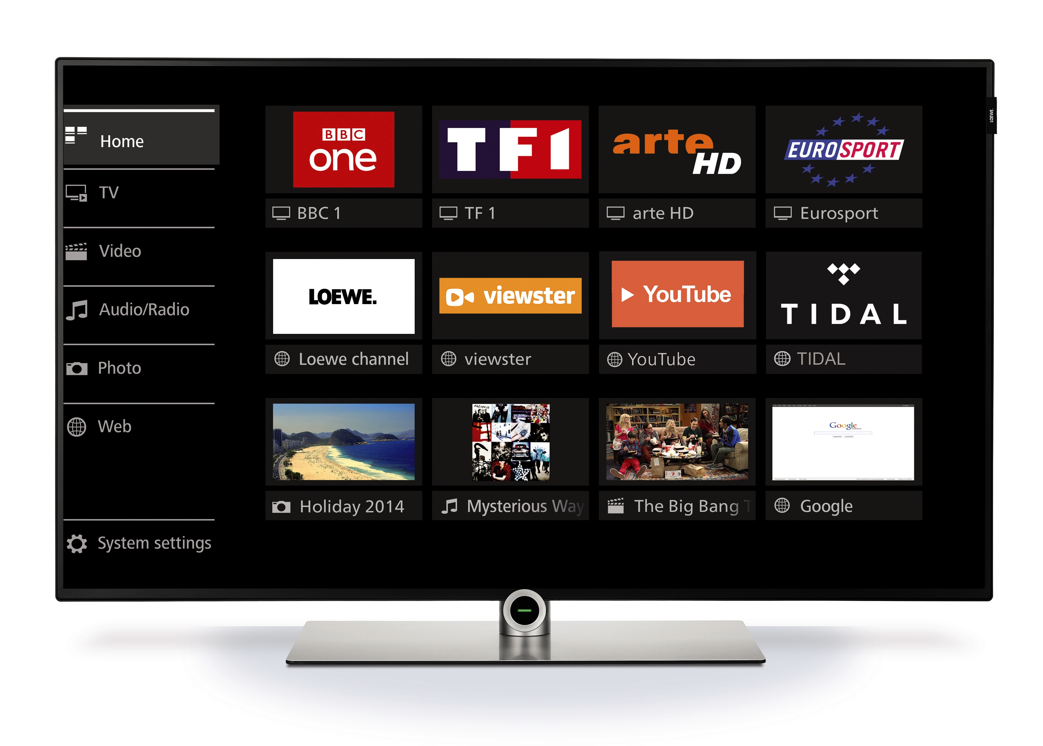 Streaming télévision Loewe one 55 UHD controlsound