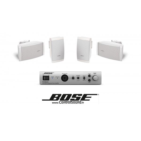 Bose - Pack de sonorisation pour professionnel salon de coiffure, boutique / bar / restaurant support mural
