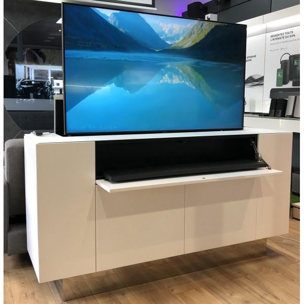 Meubles TV élévateurs d'écran 55'' avec barre de son intégrée